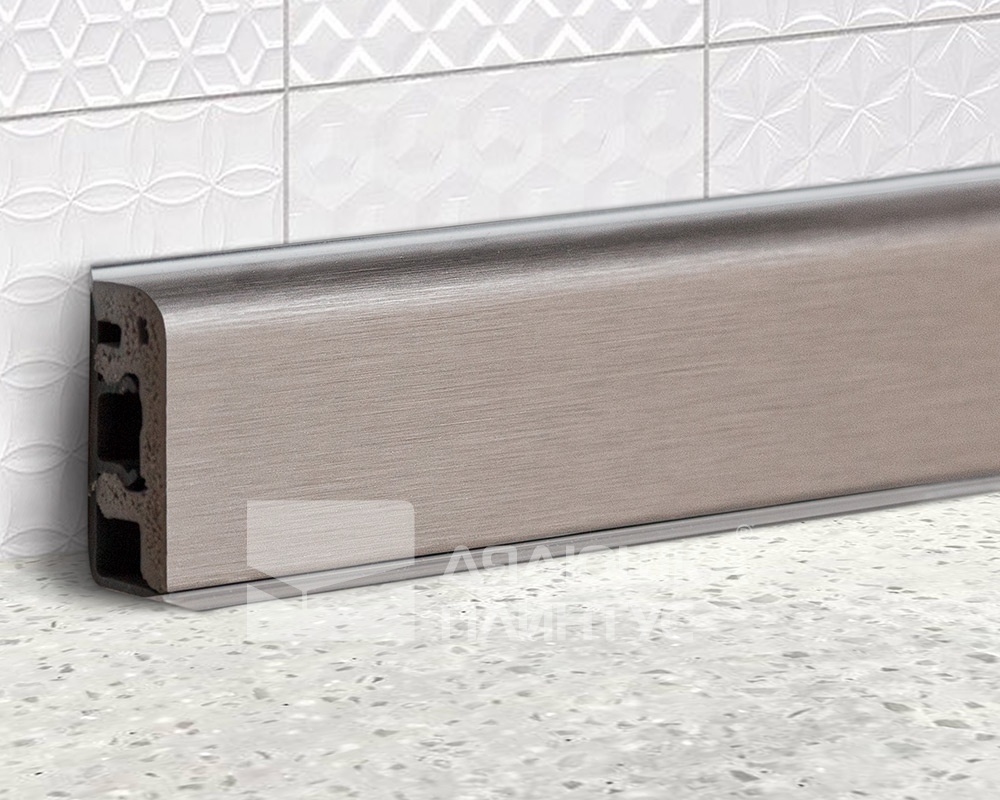 Купить Кухонный плинтус Thermoplast AP630-1208 Инокс в магазине «Дядюшка Плинтус - Белгород»